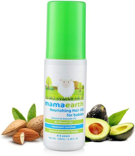 Picture of Mamaearth Nourishing Baby Hair Oil, Almond and Avocado, 100ml
