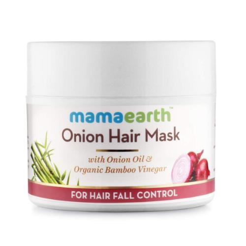 Picture of Mamaearth Onion Hair Mask, For Hair Fall Control, With Onion Oil & Organic Bamboo Vinegar, 200ml