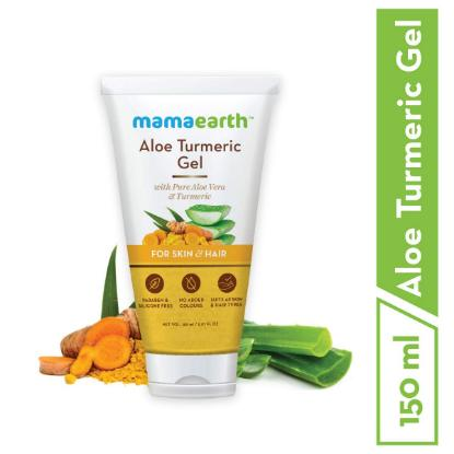 Picture of Mamaearth Aloe Turmeric Gel for Skin & Hair 150ml
