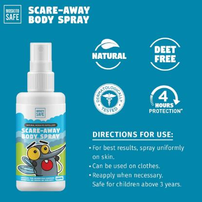 Picture of Pee Safe Moskito Safe Natural Alcohol & DEET Free Mosquito Repellent Spray 50ml