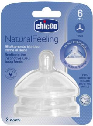 Picture of Chicco 2 Teat Natural Feeling 6M+ F Fast