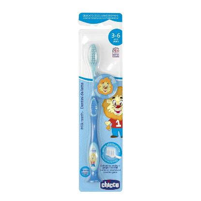 Picture of Chicco Blue Milk Teeth Toothbrush 3-6Y