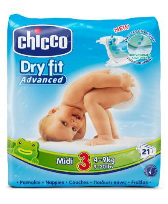 Picture of Chicco Diaper Dry Fit Adv Chicco Midi