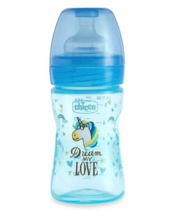 Picture of Chicco Feed.Bottle Wb Fantastic Love 150ml Sil