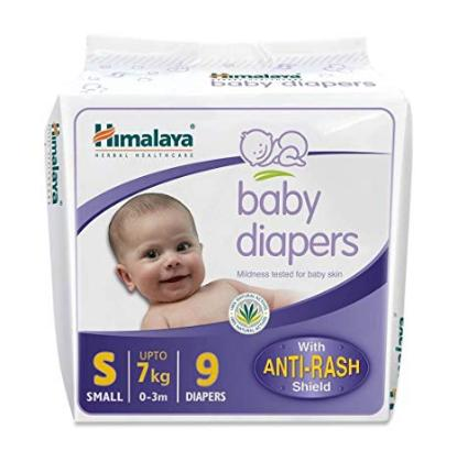 Picture of Himalaya Baby Diapers 9 Piece