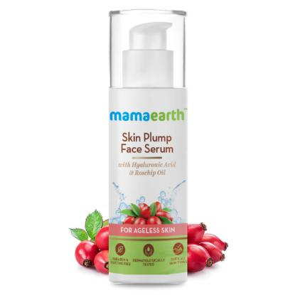 Picture of Mamaearth Skin Plump Serum For Face Glow, with Hyaluronic Acid & Rosehip Oil for Ageless Skin - 30ml