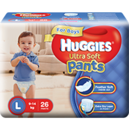Picture of Huggies Wonder Pants Ultra Soft L(Boys) 26