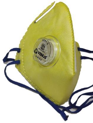 Picture of Venus Anti Pollution Face Mask for Men Women n95 With Inbuilt Filter Air Masks Reusable (V-410-V) Yellow / Grey