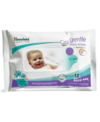 Picture of Himalaya Baby Wipes Small 12Pcs