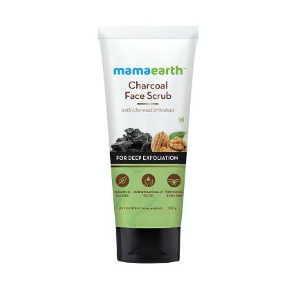 Picture of Mamaearth Charcoal Face Scrub For Oily Skin & Normal skin, with Charcoal & Walnut for Deep Exfoliation – 100g