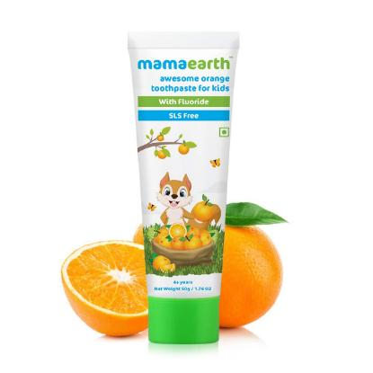 Picture of Mamaearth 100 Percent Natural awesome orange tooth paste