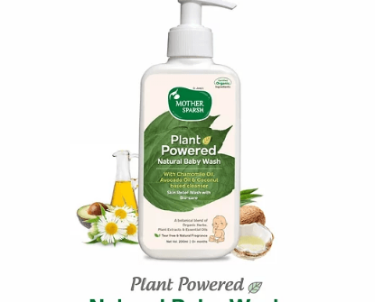 Picture of Mother Sparsh Plant Power Natural Baby Wash 200ml