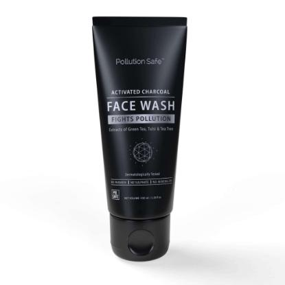 Picture of Pollution Safe Activated Charcoal Face Wash Goodness of Green Tea and Tulsi - 100ml
