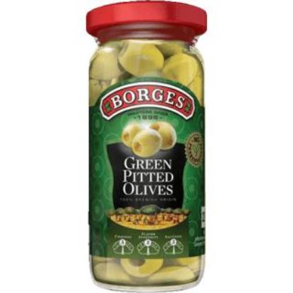 Picture of Borges Green Pitted Olives - 160gm