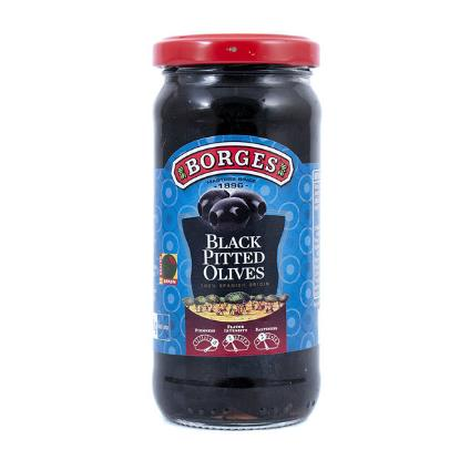 Picture of Borges Black Pitted Olives - 160gm