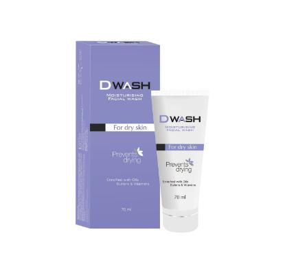 Picture of D Wash Moisturizing Facial Wash For Dry Skin 70ml