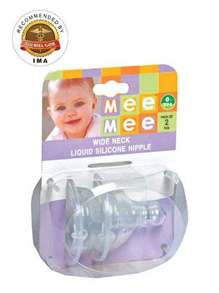 Picture of Mee Mee Wide Neck Liquid Silicone Nipple 1424