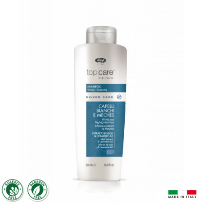 Picture of Lisap T.C.R. Silver Care Shampoo 500ml (No Yellow Shampoo)