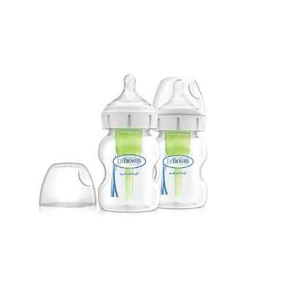 "Picture of Dr. Brown's 5 oz / 150 ml PP Wide-Neck ""Options"" Baby Bottle, 2-Pack"
