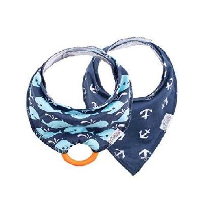 Picture of Dr. Brown's Bandana Bib w/ Teether, Anchors/ Whales 2-pk