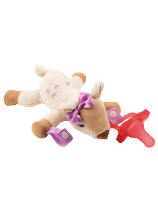 Picture of Dr. Brown's Deer Lovey with Pink One-Piece Pacifier