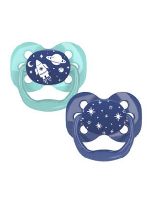 Picture of Dr. Brown's Advantage Pacifiers, Stage 1, Blue Space, 2 pack