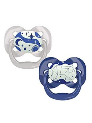 Picture of Dr. Brown's Advantage Pacifiers, Stage 1, Glow in the Dark, Blue, 2-Pack