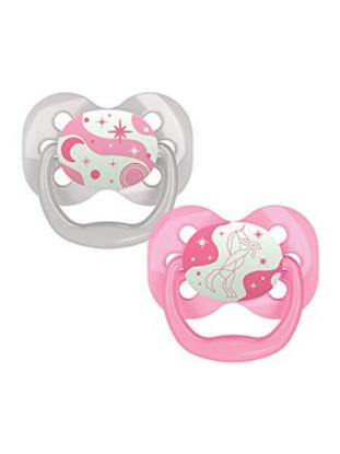 Picture of Dr. Brown's Advantage Pacifiers, Stage 1, Glow in the Dark, Pink, 2-Pack