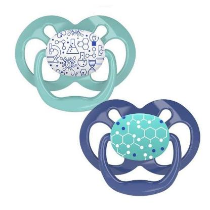 Picture of Dr. Brown's Advantage Pacifiers, Stage 2, Blue Chemistry, 2 pack