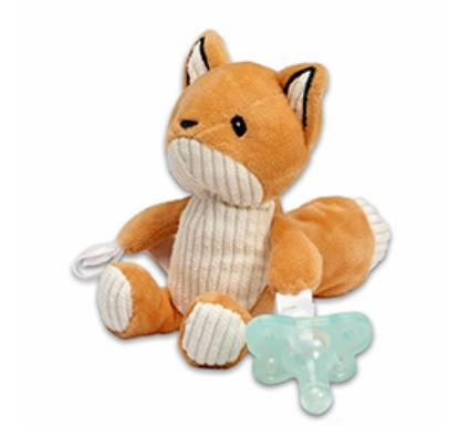 Picture of Dr. Brown's Franny the Fox Lovey w/ Aqua One-Piece Pacifier