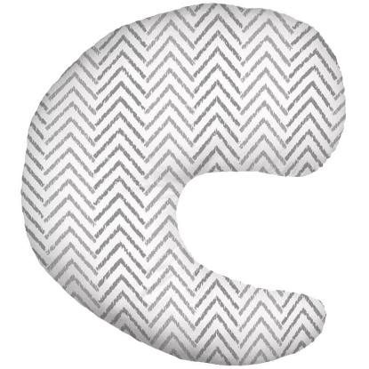 Picture of Dr. Brown's Gia Pillow with Cover, Gray Chevron