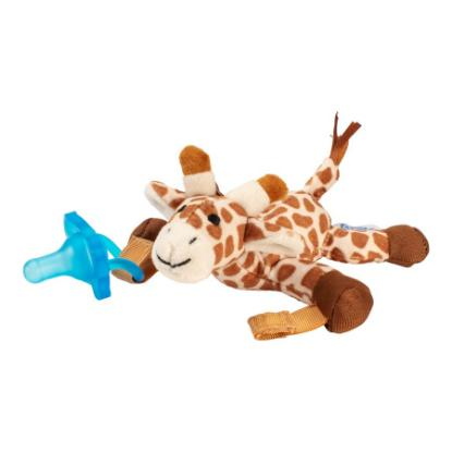 Picture of Dr. Brown's Giraffe Lovey with Blue One-Piece Pacifier