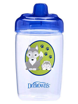 Picture of Dr. Brown's Hard Spout Sippy Cup, 12 oz/350 ml, Blue Wolf