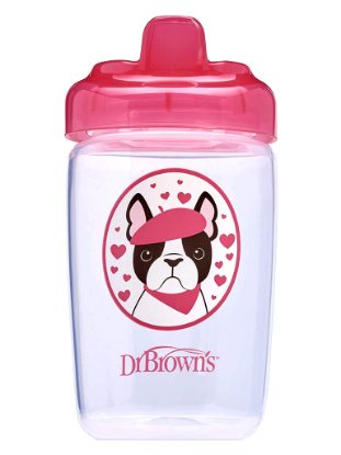 Picture of Dr. Brown's Hard Spout Sippy Cup, 12 oz/350 ml, Pink Dog