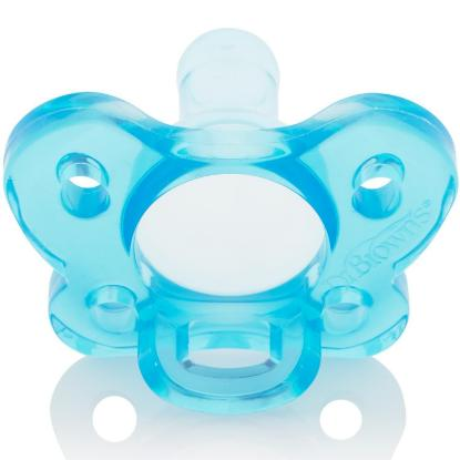 Picture of Dr. Brown's One-Piece Pacifier - Stage 1 * 0-6M - Blue, 1-Pack
