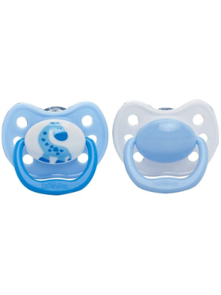 Picture of Dr. Brown's Orthodontic Soother Blue Size 3 (12+ mths), 2-Pack