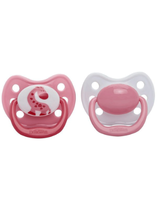 Picture of Dr. Brown's Orthodontic Soother Pink Size 3 (12+ mths), 2-Pack