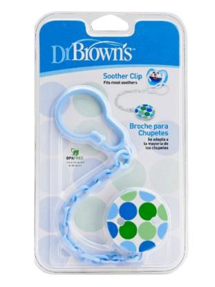 Picture of Dr. Brown's Pacifier Tether/Clip - All Plastic - Pink (6) & Blue (6)