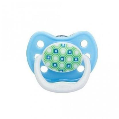 Picture of Dr. Brown's PreVent BUTTERFLY SHIELD Pacifier - Stage 3 * 12+M - Blue, 1-Pack