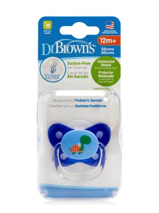 Picture of Dr. Brown's PreVent Contoured SHIELD Pacifier - Stage 3 * 12+M - Blue, 1-Pack