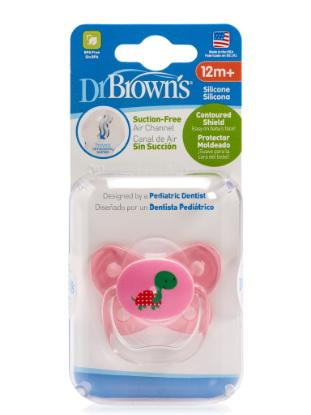 Picture of Dr. Brown's PreVent Contoured SHIELD Pacifier - Stage 3 * 12+M - Pink, 1-Pack