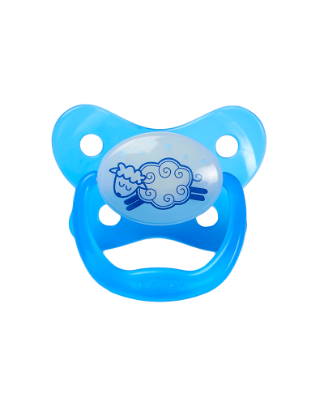 Picture of Dr. Brown's PreVent Glow in the Dark Butterfly Pacifier, Stage 1 Blue, 1-Pack
