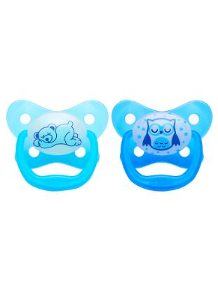 Picture of Dr. Brown's PreVent Glow in the Dark Butterfly Pacifier, Stage 3 Assorted, 2-Pack
