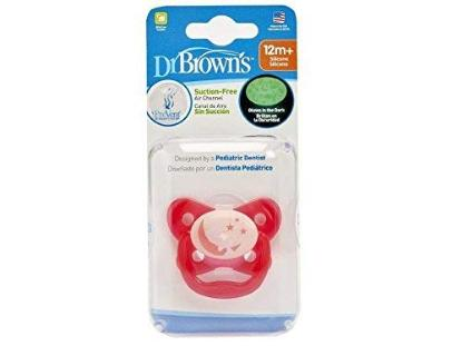 Picture of Dr. Brown's PreVent Glow in the Dark Butterfly Pacifier, Stage 3 Pink, 1-Pack