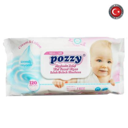 Picture of Pozzy Wet Wipes Mega Pink W/Cap 120Pcs