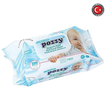 Picture of Pozzy Wet Wipes Mega Blue W/Cap 120Pcs