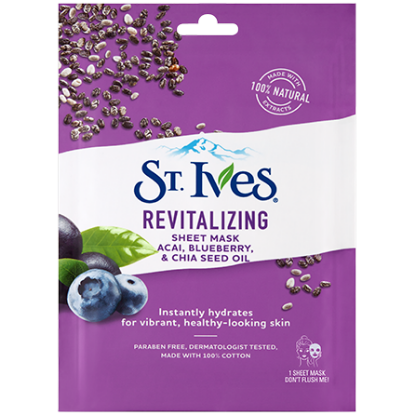 Picture of St. Ives Revitalizing Acai, Blueberry & Chia Seed Oil Sheet Mask 1 nos