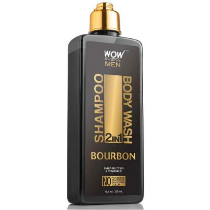 Picture of Wow Skin Science Bourbon 2 In 1 Shampoo + Body Wash 250ml