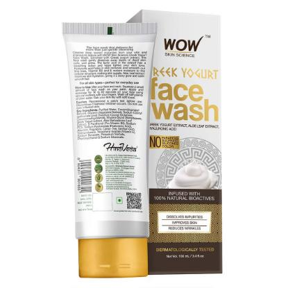 Picture of Wow Skin Science Greek Yogurt Face Wash 100ml