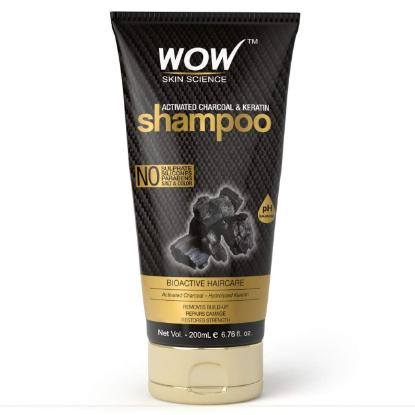 Picture of Wow Skin Science Activated Charcoal & Keratin Shampoo 200ml